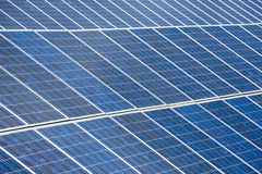 Solar plates for green sun energy Royalty Free Stock Photo
