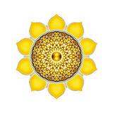 The Solar Plexus Chakra Mandala Stock Photography