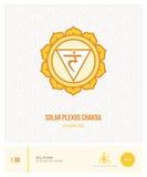 Solar plexus chakra Manipura Stock Image