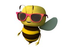 Solar points. The bee in solar points stock illustration