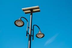 Solar poowered street lamp royalty free stock photos