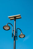 Solar poowered street lamp royalty free stock photography