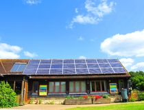 Solar Power. A roof of a solar powered house in Sussex England royalty free stock photo