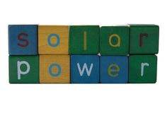 Solar power. The words 'solar power' isolated on white Stock Photo