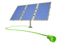 Solar power alternative energy concept. 3D rendering Royalty Free Stock Image