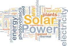 Solar power background concept Royalty Free Stock Photography