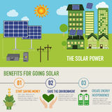Solar power benefit infographic vector Stock Photography