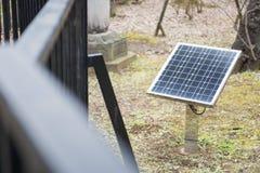 Solar power cell panels Stock Photo