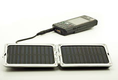 Solar power charger Stock Image