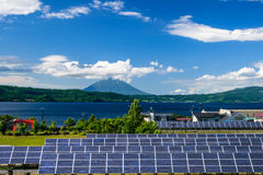 Solar power for cocept of sustainable green energy Stock Images