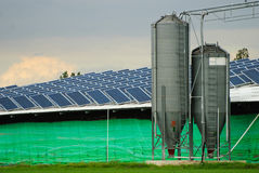 Solar power collectors Stock Images