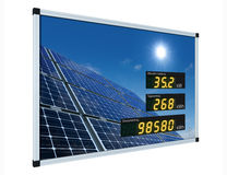 Solar power display - german Royalty Free Stock Image