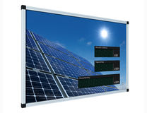 Solar power display - german (clipping path) Stock Photography