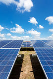 Solar power for electric renewable energy from the sun. Solar farm Royalty Free Stock Images