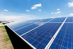 Solar power for electric renewable energy from the sun Stock Photos