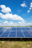 Solar power for electric renewable energy from the sun Royalty Free Stock Photos