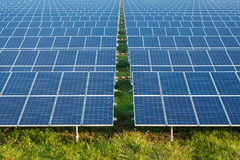 Solar power for electric renewable energy from the sun Royalty Free Stock Photography