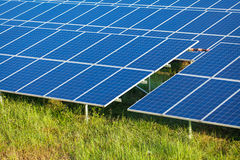 Solar power for electric renewable energy from the sun Stock Photography