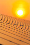 Solar power for electric renewable energy from the sun Royalty Free Stock Image