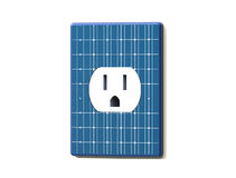 Solar Power Electric Socket Royalty Free Stock Photo