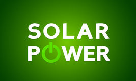 Solar power energy concept Royalty Free Stock Photography