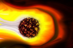 Solar Power Energy From Sun Or Nebula Stock Photo