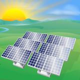 Solar power energy illustration Royalty Free Stock Images