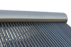 Solar power energy water heater Royalty Free Stock Photos
