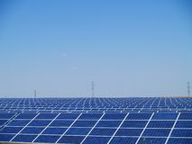 Solar power farm Stock Images