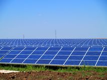 Solar power farm Royalty Free Stock Photography