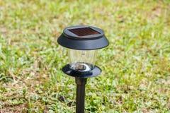 Solar power garden lamp Stock Images