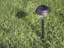 Solar power garden light Royalty Free Stock Images