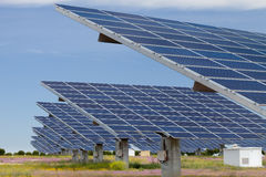 Solar power generation Stock Photo