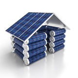 Solar power house Royalty Free Stock Images