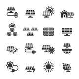 Solar power icon set, vector eps10 Stock Photos