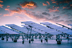 Solar Power. A large solar power installations Royalty Free Stock Images
