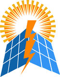 Solar power logo Royalty Free Stock Photos