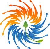 solar power logo Stock Photography