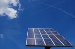 Solar power panel. A solar power panel and a blue sky Royalty Free Stock Photos