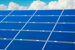 Solar power panel below blue sky Stock Photography