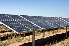 Solar power panel energy farm Royalty Free Stock Image