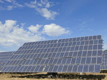 Solar Power Panel. Panel or plate for the production of clean, renewable solar energy Royalty Free Stock Images