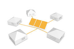 Solar power - panels Royalty Free Stock Image