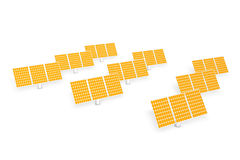 Solar power - panels Stock Images
