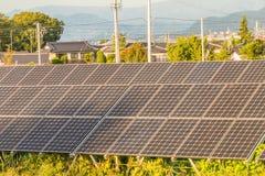 Solar power panels ,Photovoltaic modules for innovation green en Royalty Free Stock Photos