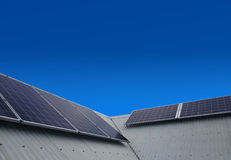 Solar power panels on roof Royalty Free Stock Image