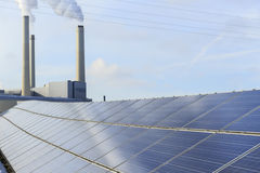 Solar Power. An photovoltaic installation royalty free stock image