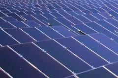 Solar power plant. Renewable energy source stock image