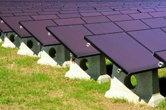 Solar power plant. Photovoltaic panels royalty free stock image