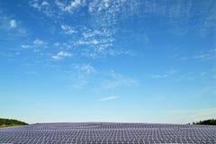 Solar power plant. Under blue sky stock photos